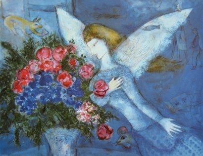 Chagall-Blauer Engel, Blue Angel, Bleu