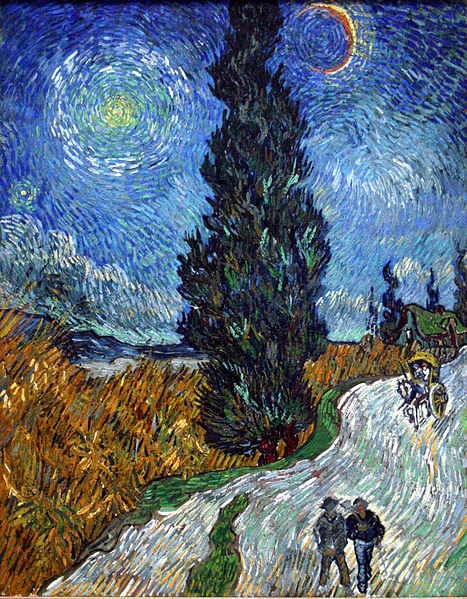 467px-Van_Gogh_-_Country_road_in_Provence_by_night