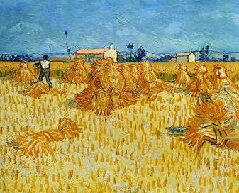 Van_Gogh-00015-Harvest in Provence of Wheat Field with Sheaves, c,1888