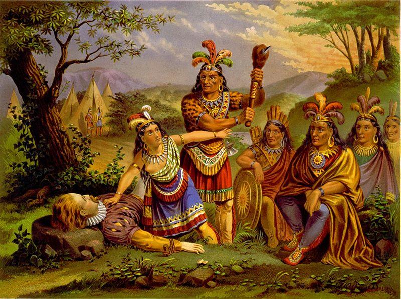 Pocahontas-saves-Smith-NE-Chromo-1870