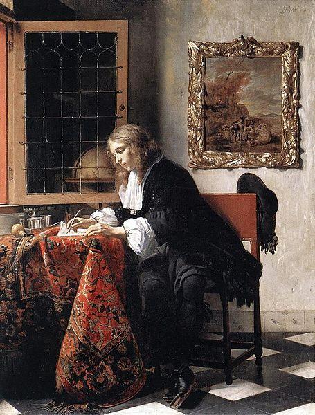 Gabriel Metsu- Man Writing a Letter