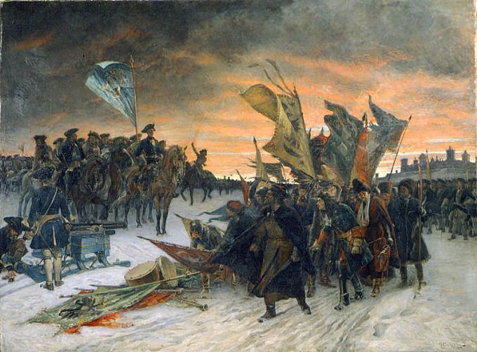 Russians capitulating at Narva