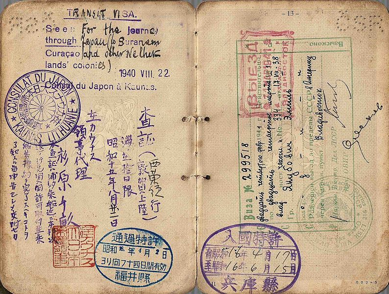 issued_visa_by_consul_Sugihara_in_Lithuania 1940