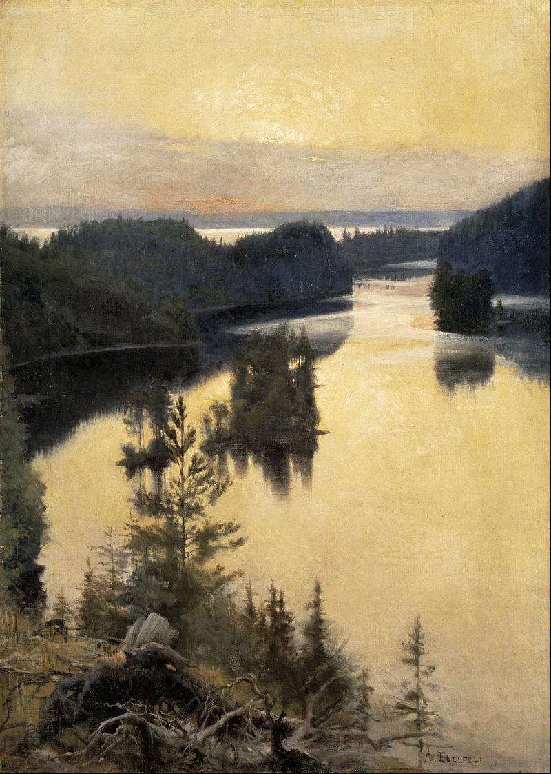 Finland Albert_Edelfelt_-_Kaukola_Ridge_at_Sunset_-_Google_Art_Project