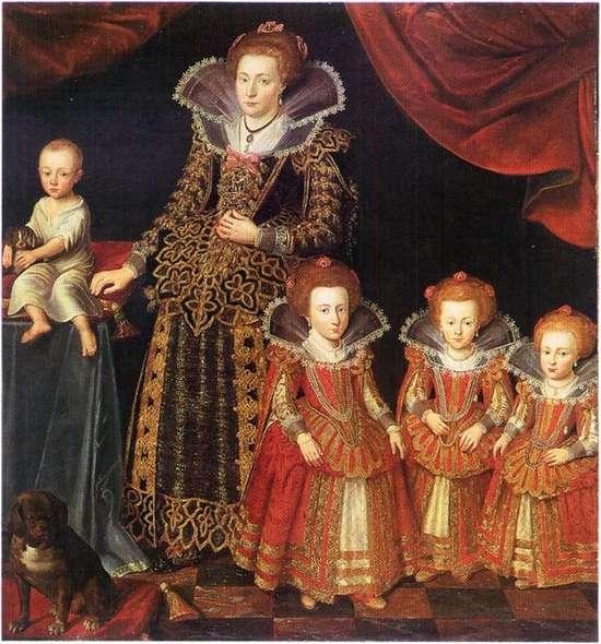 Kirsten_Munk,_målning_av_Jacob_van_Dort_från_1623