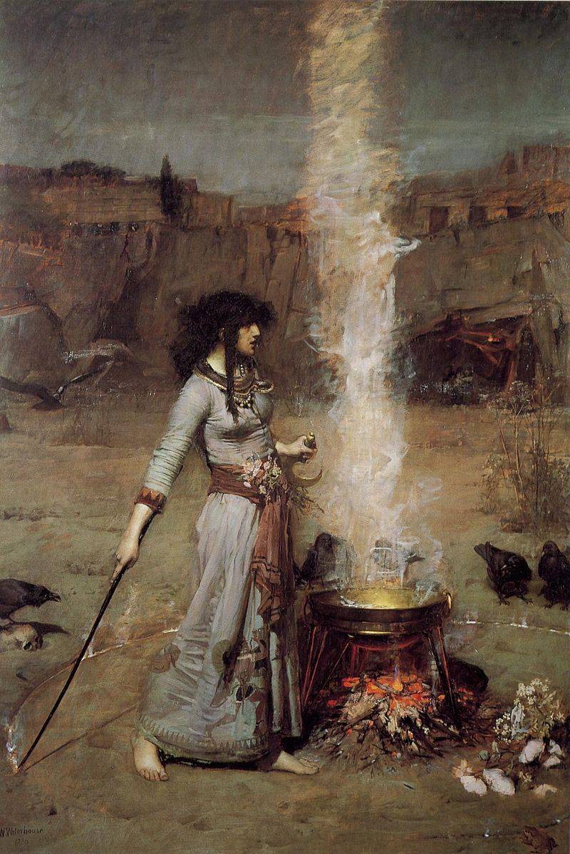 Witches John_William_Waterhouse_-_Magic_Circle