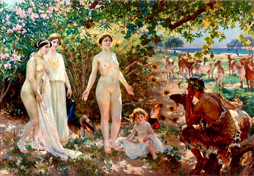 brudkrona Enrique_Simonet_-_El_Juicio_de_Paris_-_1904