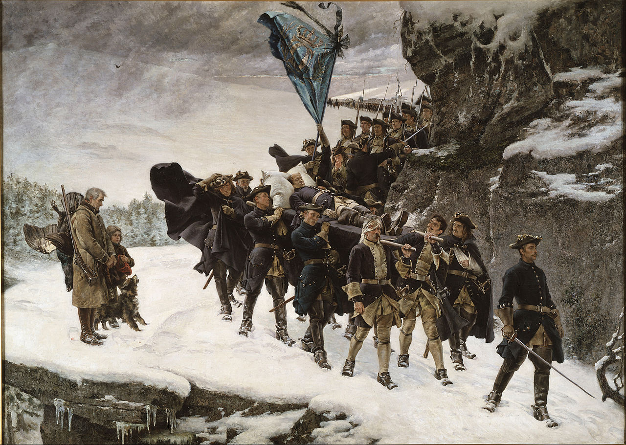 1280px-GustaKarl XII f_Cederström_-_Bringing_Home_the_Body_of_King_Karl_XII_of_Sweden_-_Google_Art_Project