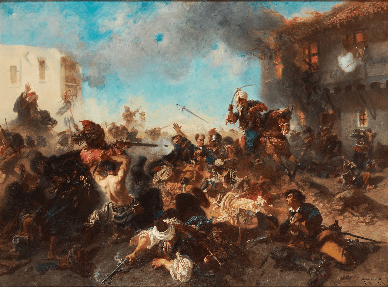 Karl XII Battle_of_Bender_1713