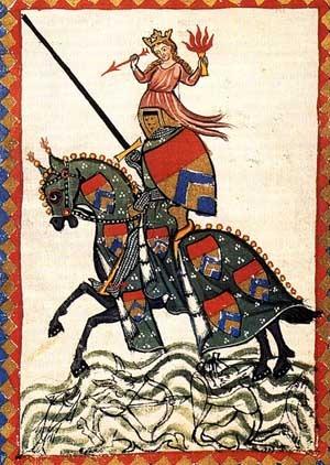 Medieval GermanUlrichVonLichtensteinVenusHelmC1300