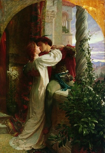 Valentine dicksee-romeo-and-juliet-on-the-balcony