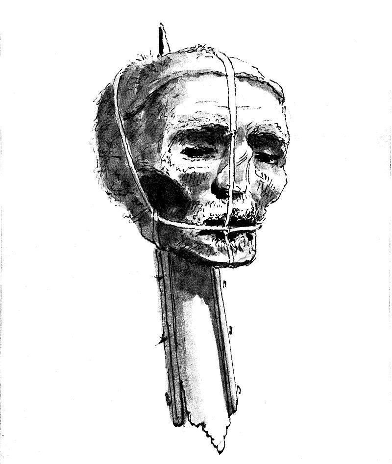 Cromwell's_head,_late_1700s