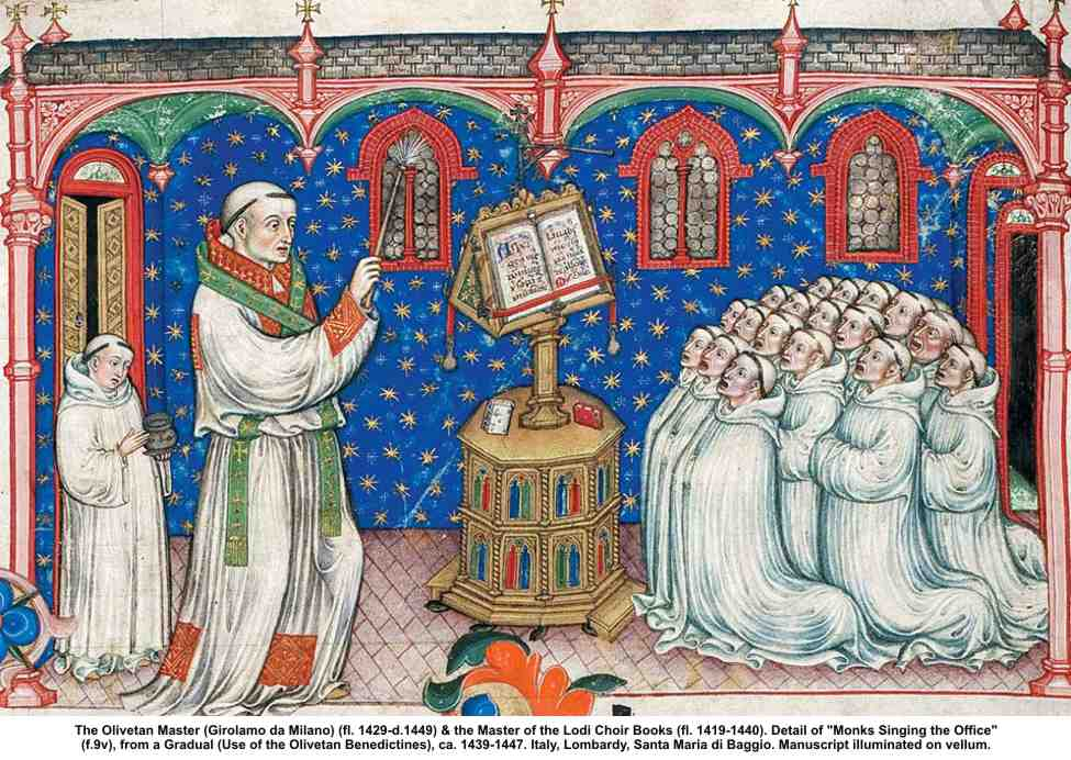 Saints The_Olivetan_Master_Monks_Singin_the_Office