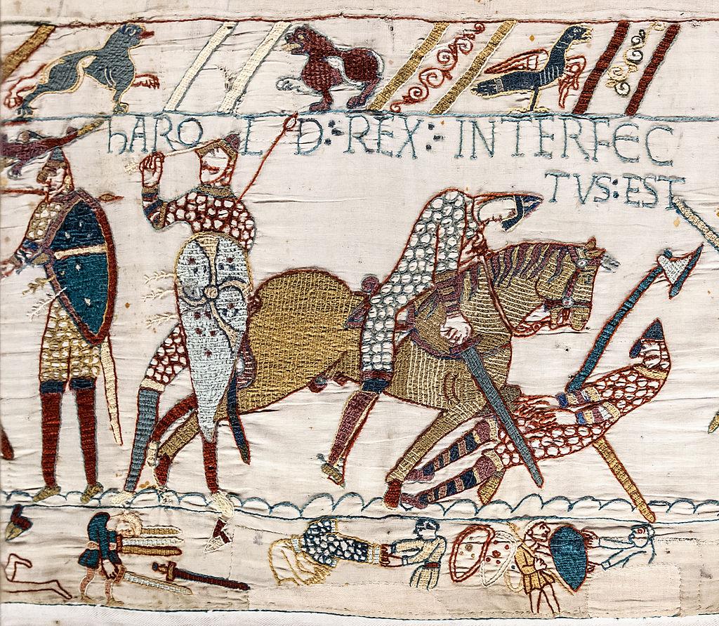 EHFA Bayeux_Tapestry_scene57_Harold_death