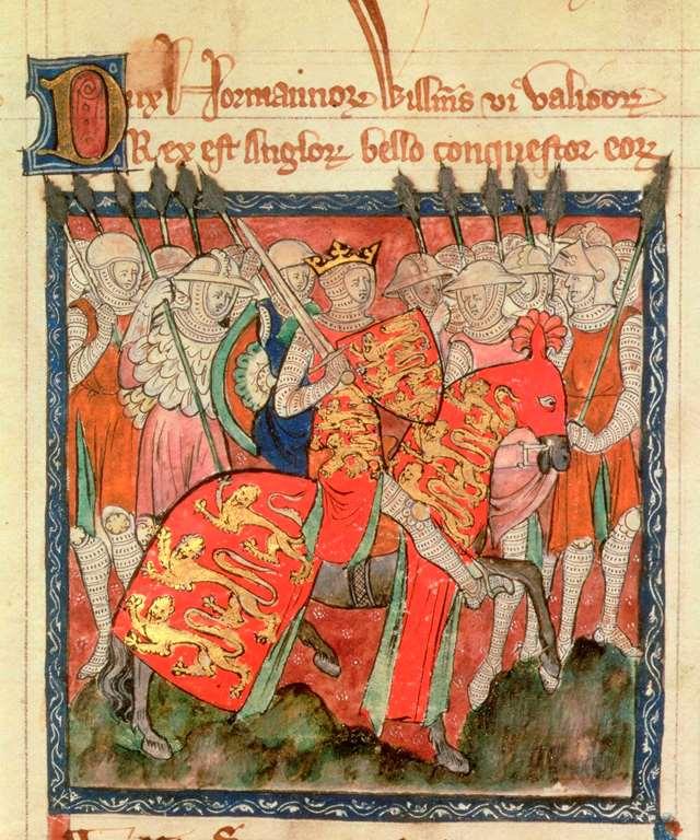 medieval william-the-conqueror-manuscript-illustration