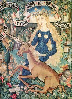 medieval woman w unicorn