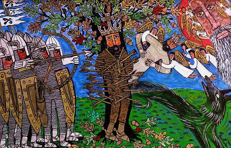 Edmund Martrydom_of_St_Edmund_by_Brian_Whelan
