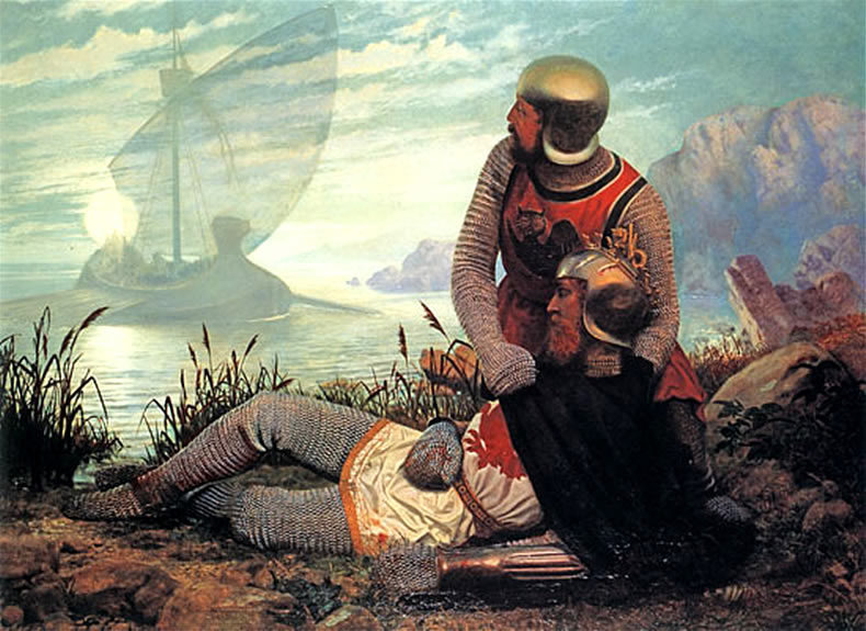 may The_Death_of_King_Arthur_by_John_Garrick