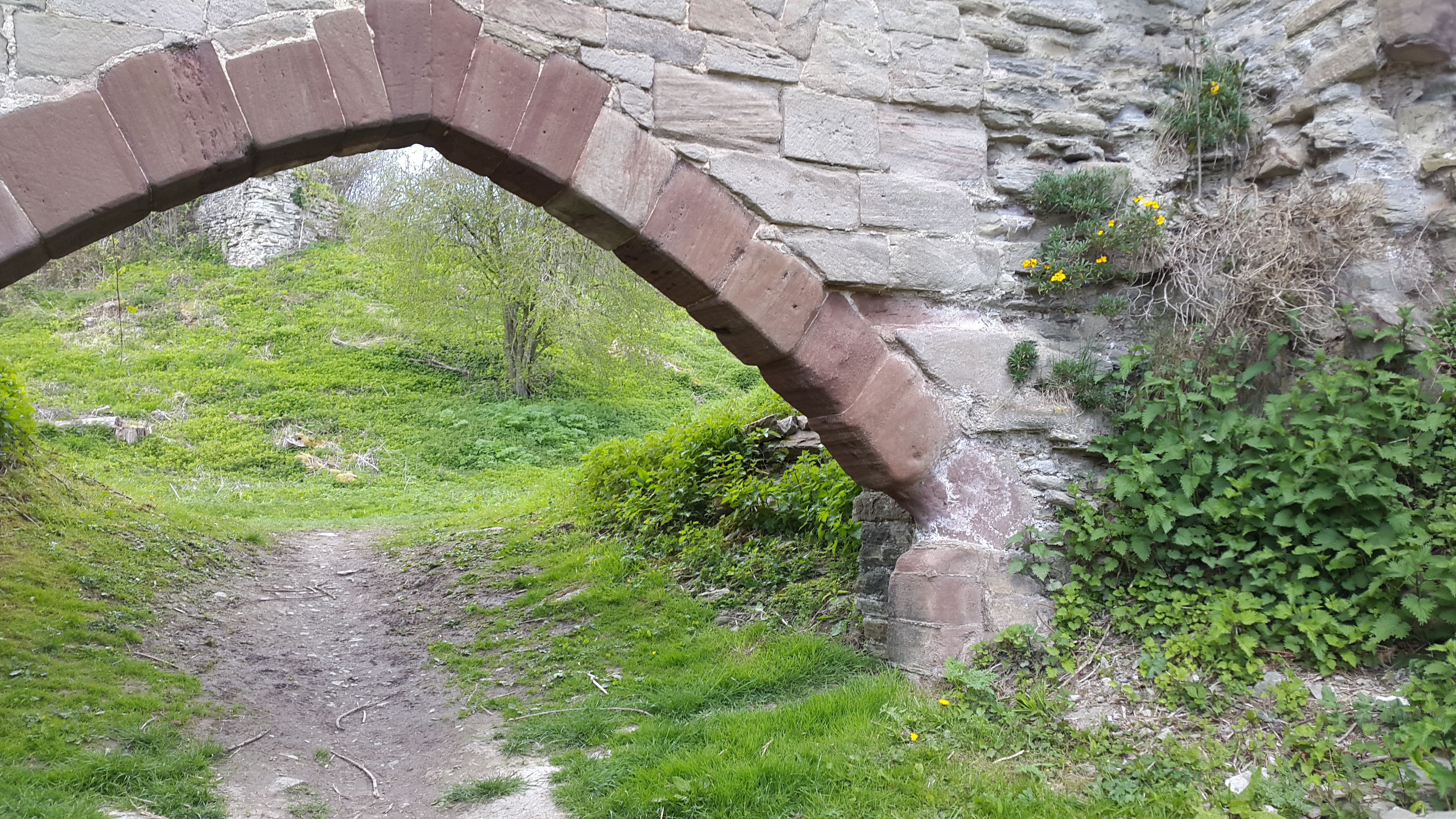 arch of the former gatehouse at Wigmore