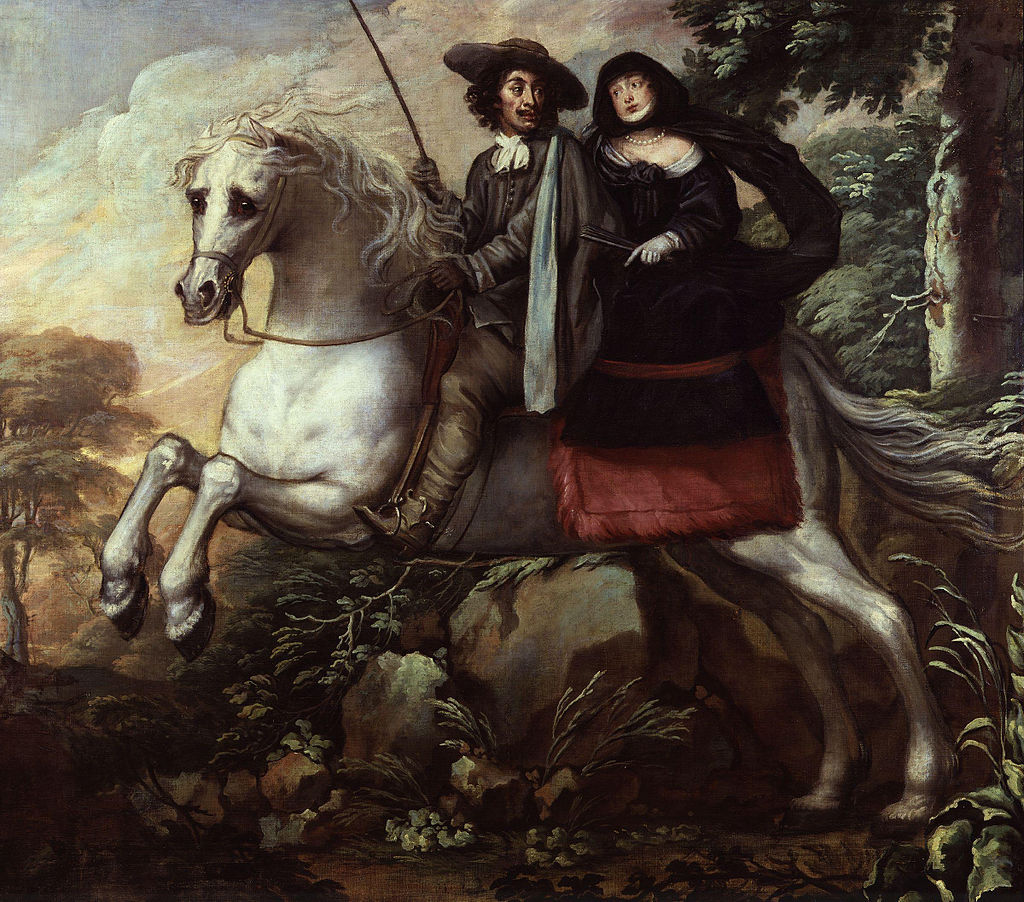 CB King_Charles_II_and_Jane_Lane_riding_to_Bristol_by_Isaac_Fuller