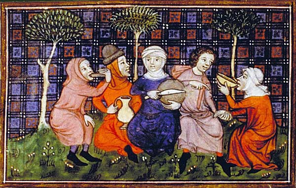 peas Peasants_breaking_bread