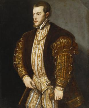 EHFA Portrait_King_Philip_II_of_Spain,_in_Gold-Embroidered_Costume_with_Order_of_the_Golden_Fleece