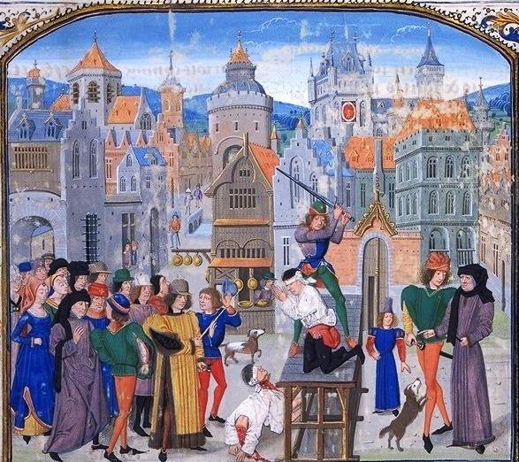 EHFA Edmund Froissart_Chronicles,_execution