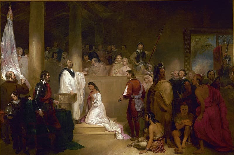 The Baptism of Pocahontas, JG Chapman
