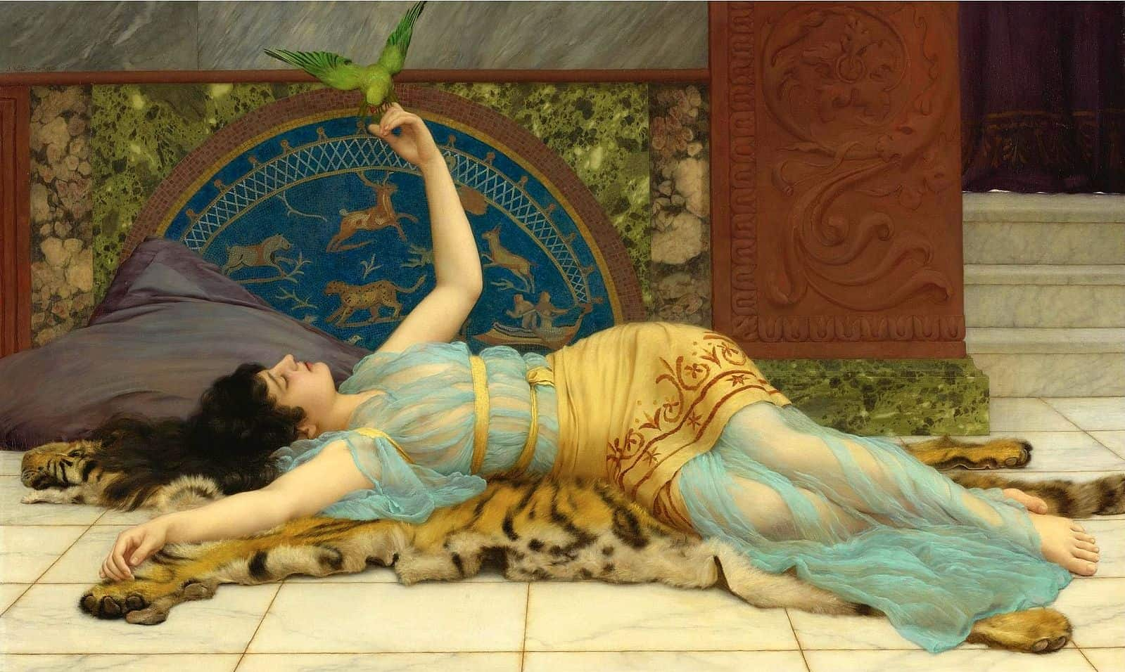 laziness John_William_Godward_-_Dolce_Far_Niente_(1897)