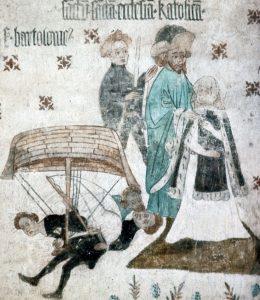 Nyköping Duke_Eric_saves_Saint_Bridget's_mother,_Johannes_Rosenrod_1437