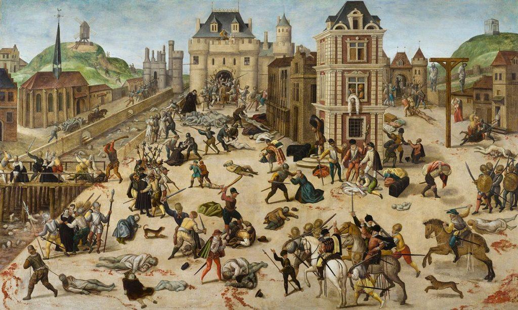 Henri IV La_masacre_de_San_Bartolomé,_por_François_Dubois
